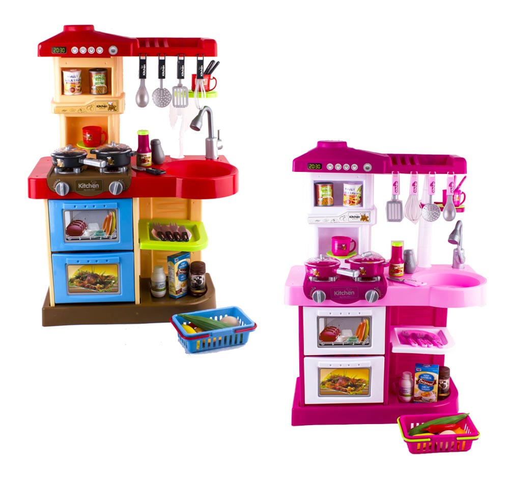 Kitchen Toy Set With Play Food and 30 Cooking Accessories | eBay