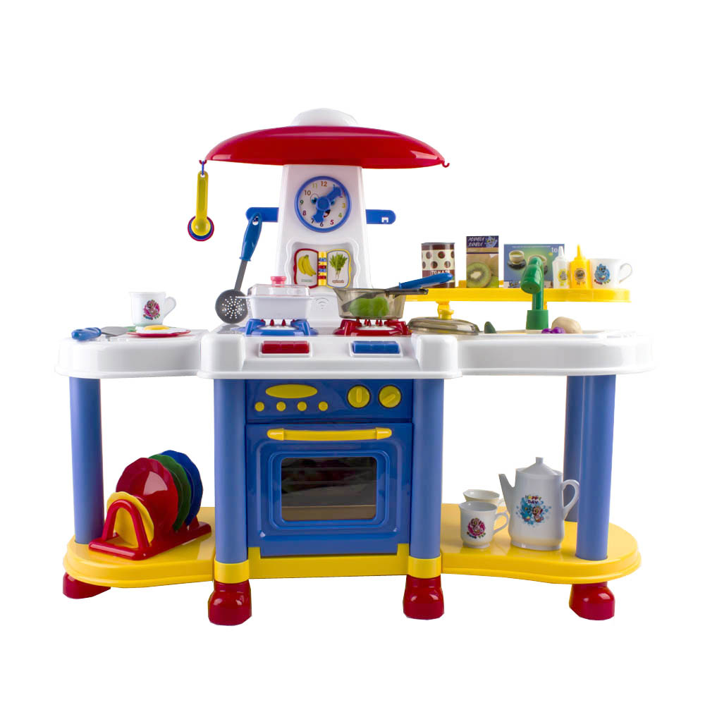 Deao Children Kitchen Play Set Cooking Light Sounds Comes With 35 Accessories Ebay
