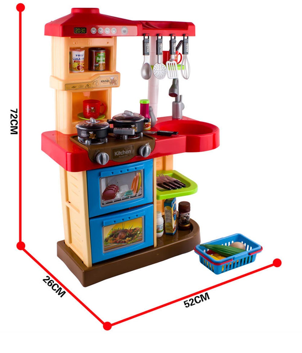 Play Kitchen Set Toy With Play Food And Cooking